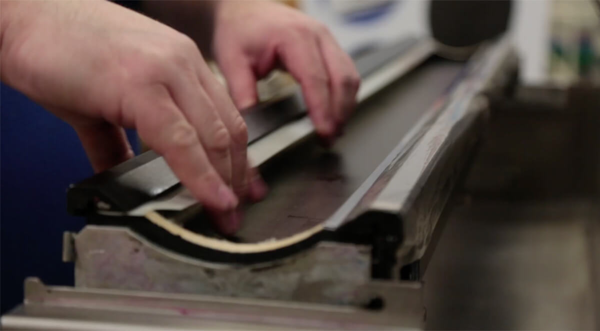 montagem doctor blade flexografia
