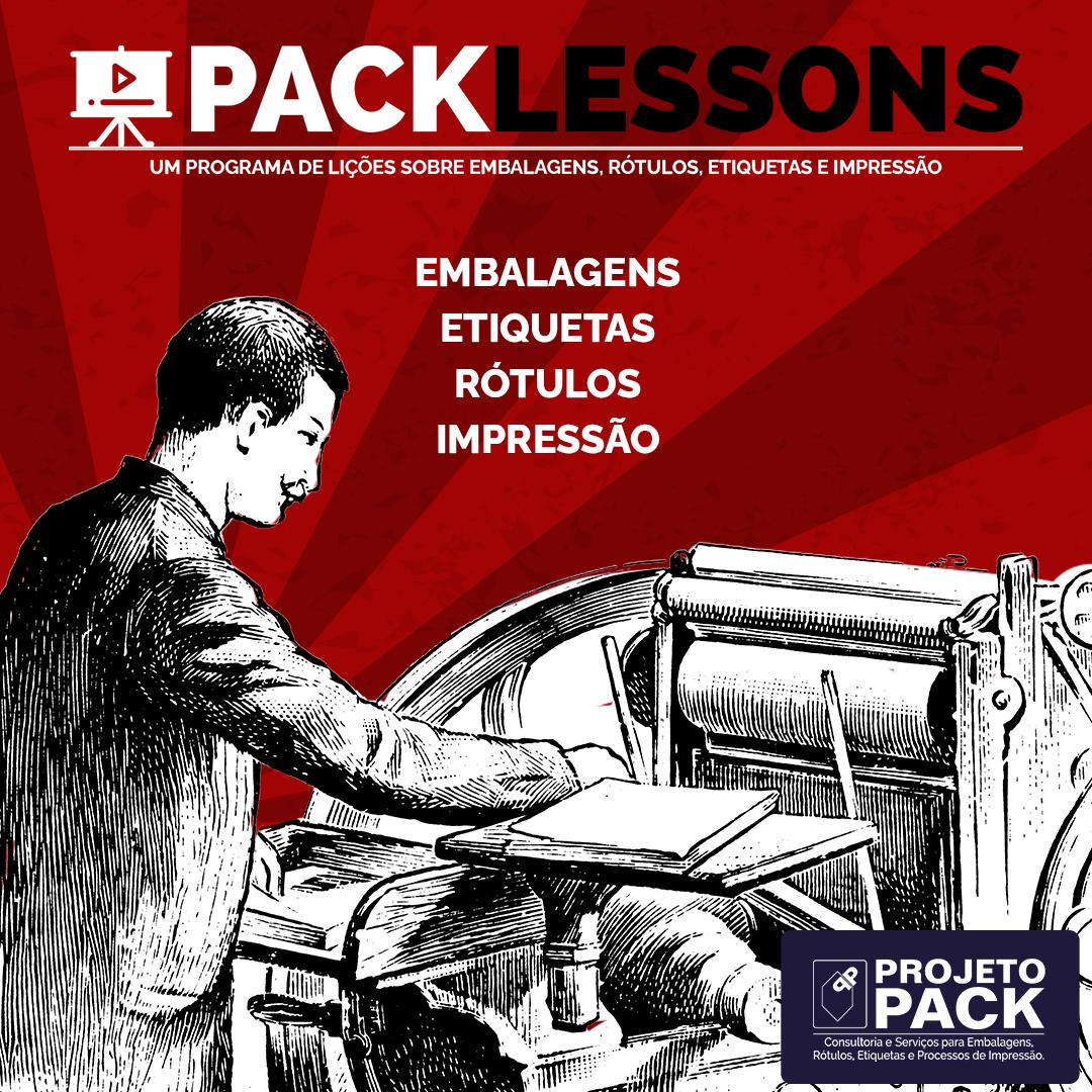 lições de embalagens e impressão